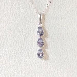 Jewelry - Tanzanite Gemstone Pendant with Chain